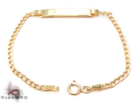 Baby 10K Cuban ID Bracelet 33054 Gold