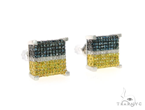 10K Cubic Diamond Earrings 57391 Stone