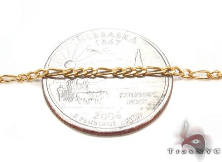 10K Figaro Bracelet 33027 Gold