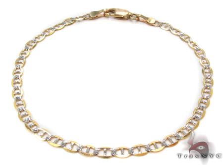 10K Gold Anchor Diamond Cut Bracelet 33206 Gold