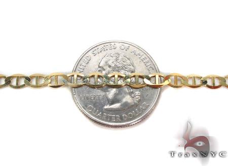 10K Gold Anchor Bracelet 33209 Gold