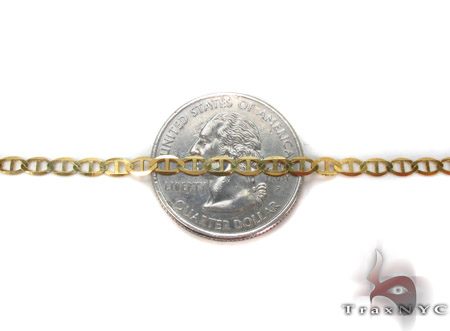 10K Gold AnchorBracelet 33210 Gold