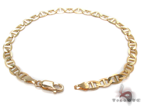 10K Gold Anchor Bracelet 33211 Gold