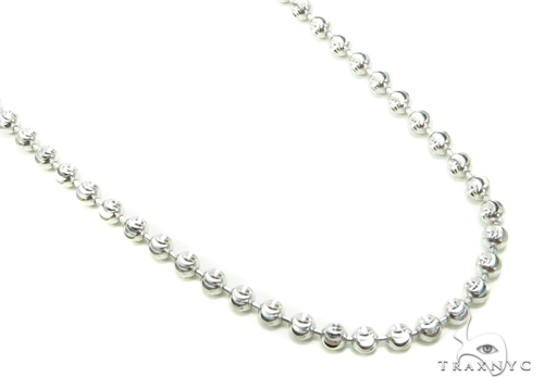10K Gold Bead Moon Cut Chain 24 Inches 3mm 15.4 Grams Gold