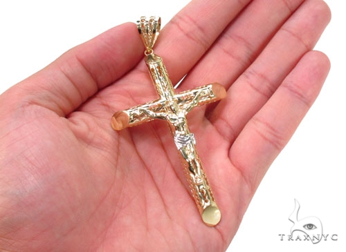 10K Gold Cross  Pendant 36769 Gold