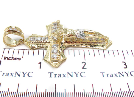 10K Gold Cross Crucifix 31050 Gold
