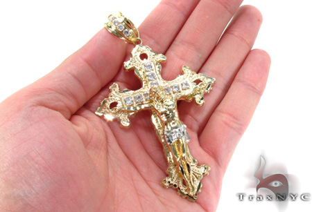 10K Gold Cross Crucifix 31051 Gold