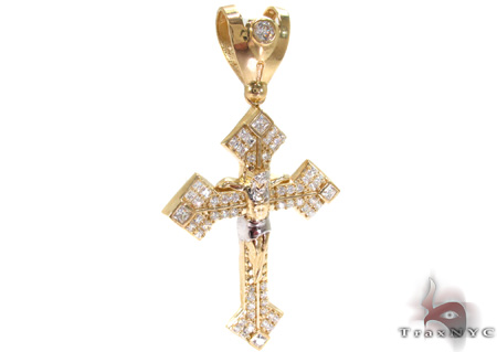 10K Gold Cross Crucifix 31059 Gold