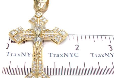10K Gold Cross Crucifix 31059 Gold
