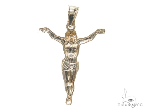 10K Gold Crucifix 44790 Style