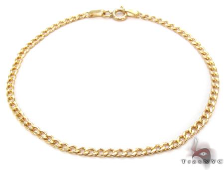 10K Gold Cuban Bracelet 33036 Gold