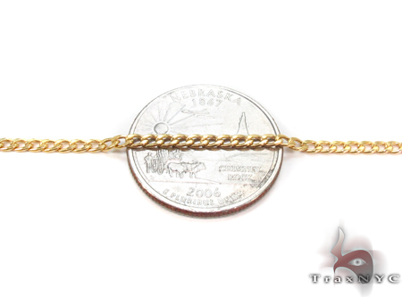 10K Gold Cuban Bracelet 33036 Gold