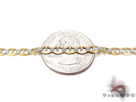 10K Gold Anchor Diamond Cut Bracelet 33204 Gold