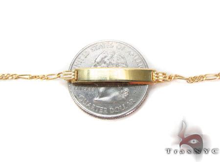 Baby 10K Gold Figaro ID Bracelet 33047 Gold