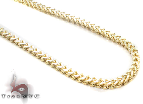 10K Gold Franco Chain 30 Inches, 2.5mm, 12.5 Grams Gold
