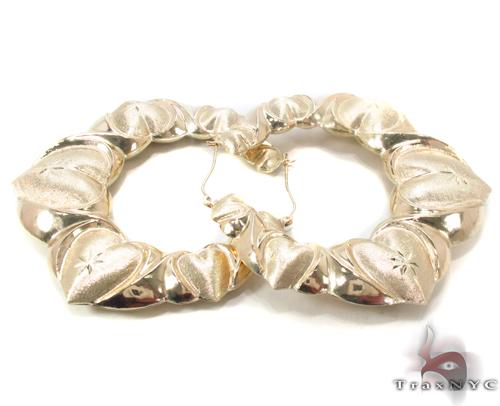 10K Gold Hoop Earrings 34287 Metal