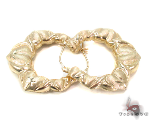10K Gold Hoop Earrings 34291 Metal