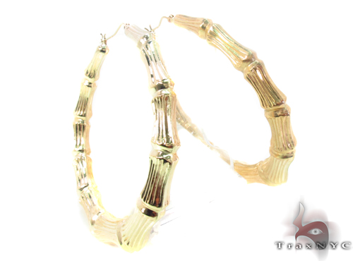 10K Gold Hoop Earrings 34293 Metal