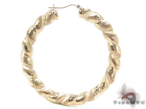 10K Gold Hoop Earrings 34298 Metal