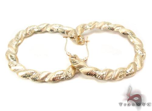 10K Gold Hoop Earrings 34301 Metal