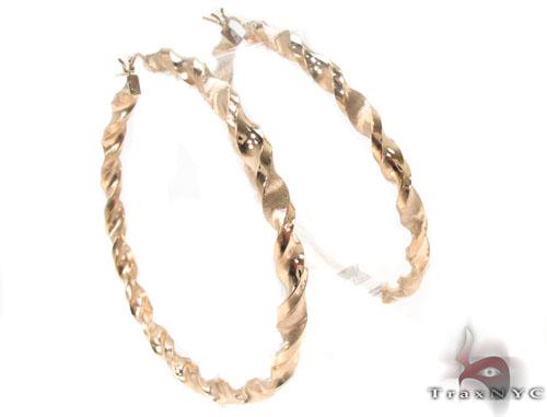 10K Gold Hoop Earrings 34305 Metal