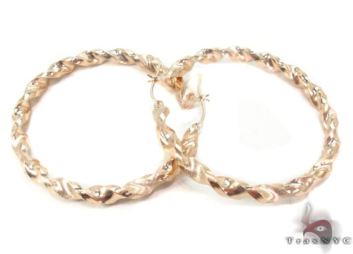 10K Gold Hoop Earrings 34306 Metal