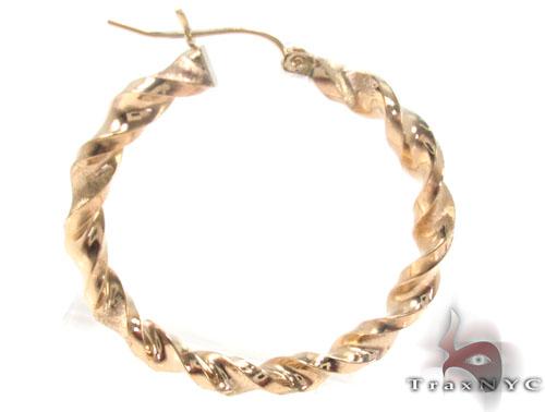 10K Gold Hoop Earrings 34308 Metal