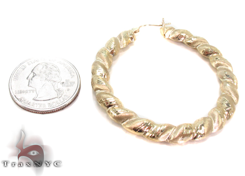 10K Gold Hoop Earrings 34335 Metal