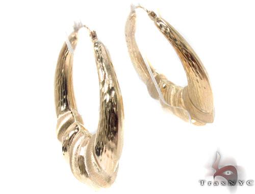 10K Gold Hoop Earrings 34347 Metal