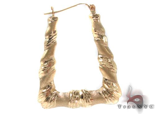 10K Gold Hoop Earrings 34349 Metal