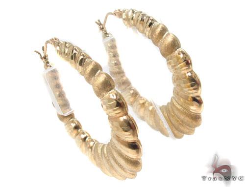 10K Gold Hoop Earrings 34356 Metal