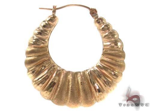 10K Gold Hoop Earrings 34360 Metal
