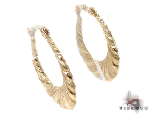 10K Gold Hoop Earrings 34364 Metal