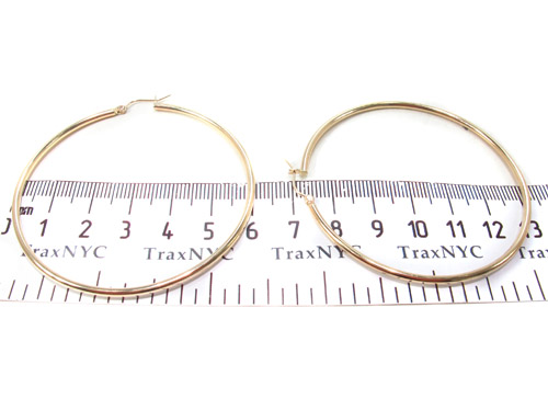 10K Gold Hoop Earrings 34433 Metal