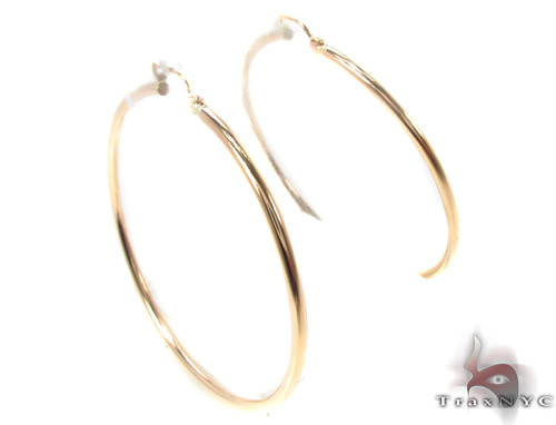 10K Gold Hoop Earrings 34435 Metal