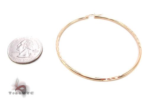 10K Gold Hoop Earrings 34723 Metal