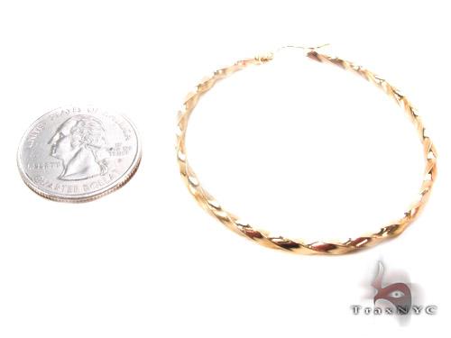 10K Gold Hoop Earrings 34737 Metal