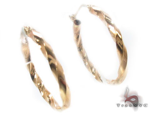 10K Gold Hoop Earrings 34742 Metal