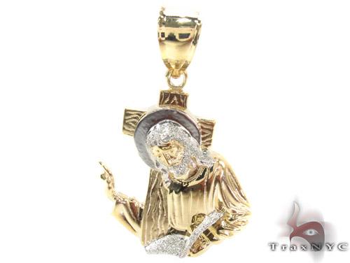 10K Gold Jesus Pendant 34115 Metal