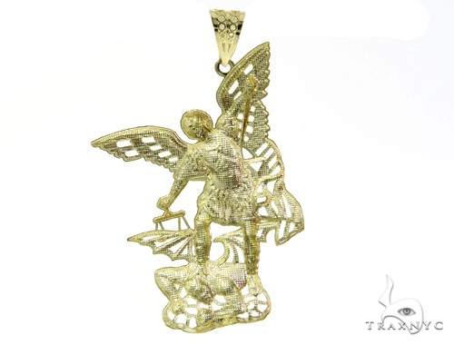 10K Gold Saint Michael Pendant 57052 Metal