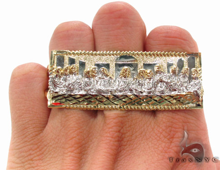 10K Gold Last Supper Ring 33225 Metal