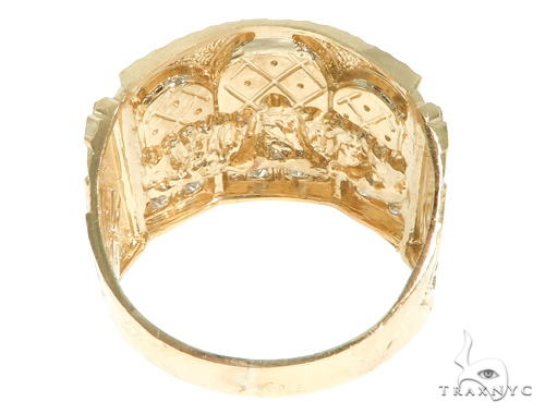 10K Gold Last Supper Ring 58447 Metal