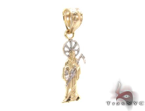 10K Gold Grim Reaper Pendant Metal