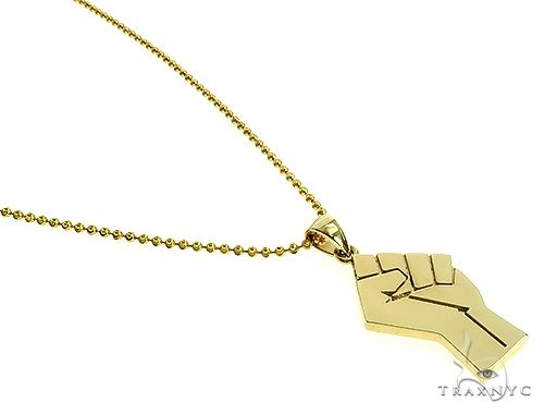 10K Gold Power Fist, BLM, Pendant Set 66333 Metal