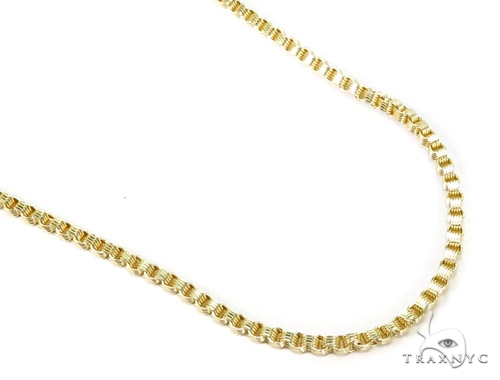 10K Gold Rolo Chain 24 Inches 3mm 9.1 Grams Gold