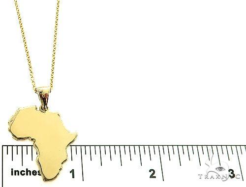 10K Gold Small African Ladies Pendant Set 66334 Metal