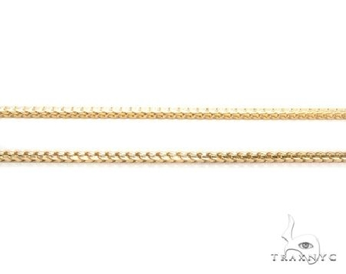 10K Gold Solid Franco Link Chain 24 Inches 3mm 28.5 Grams Gold