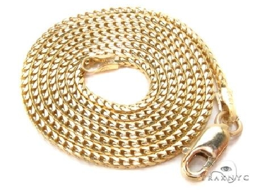 10K Gold Solid Franco Link Chain 28 Inches 3mm 37.2 Grams 63807 Gold
