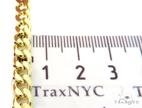 10K Hollow Traxnyc Miami Cuban Chain 26 Inches 6mm 20.3 Grams Gold