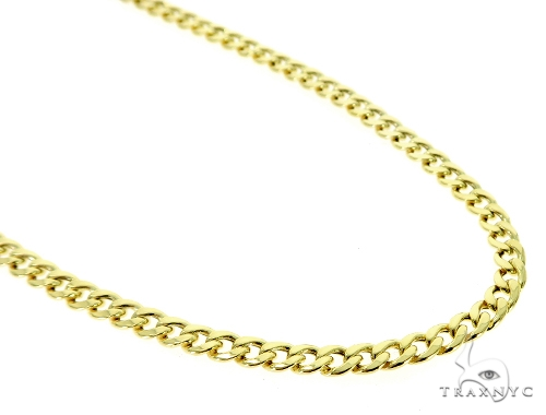 10K Hollow Traxnyc Miami Cuban Chain 28 Inches 6mm 21.2 Grams Gold